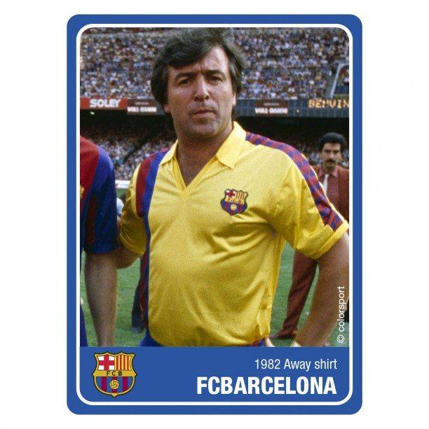 Barcelona retro shirt 1984-1985 uit (BARCA82ANYSS)
